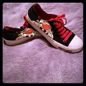 Ed Hardy Converse Style shoes size 7